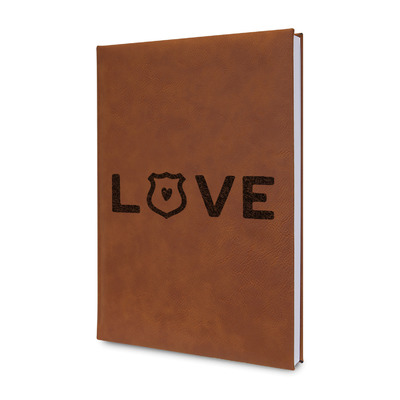 Police Quotes and Sayings Leatherette Journal (Personalized)