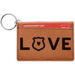 Police Quotes and Sayings Leatherette Keychain ID Holder (Personalized)
