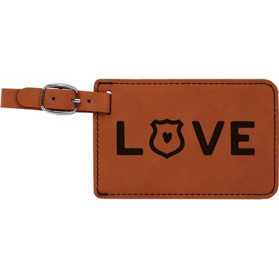 Police Quotes and Sayings Leatherette Luggage Tag (Personalized)