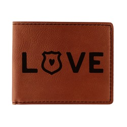 Police Quotes and Sayings Leatherette Bifold Wallet (Personalized)