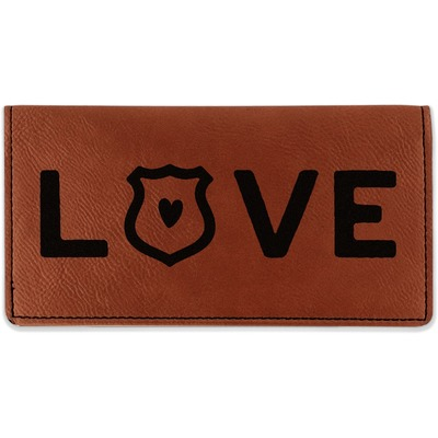 Police Quotes and Sayings Leatherette Checkbook Holder (Personalized)