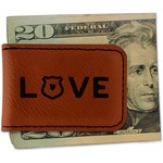 Police Quotes and Sayings Leatherette Magnetic Money Clip (Personalized)