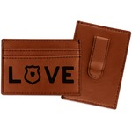 Police Quotes and Sayings Leatherette Wallet with Money Clip (Personalized)