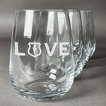 Police Quotes and Sayings Wine Glasses (Stemless- Set of 4) (Personalized)