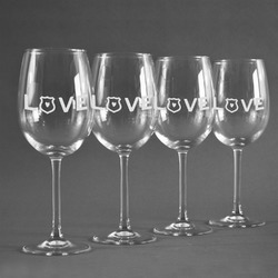Police Quotes and Sayings Wineglasses (Set of 4) (Personalized)