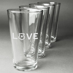 Police Quotes and Sayings Beer Glasses (Set of 4) (Personalized)