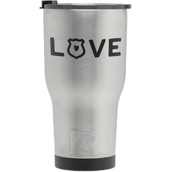 Police Quotes and Sayings RTIC Tumbler - Silver (Personalized)