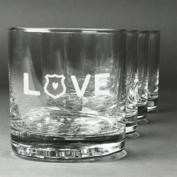 Police Quotes and Sayings Whiskey Glasses (Set of 4) (Personalized)