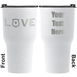 Police Quotes and Sayings RTIC Tumbler - White - Engraved Front & Back (Personalized)