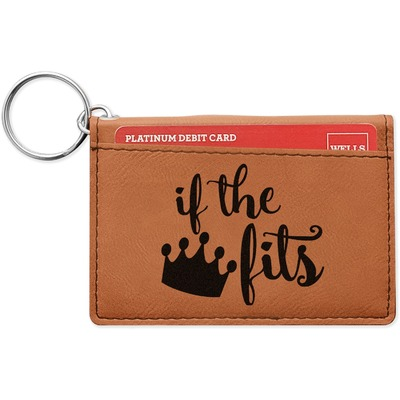 Princess Quotes and Sayings Leatherette Keychain ID Holder (Personalized)