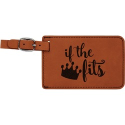 Princess Quotes and Sayings Leatherette Luggage Tag (Personalized)