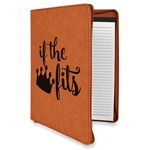 Princess Quotes and Sayings Leatherette Zipper Portfolio with Notepad (Personalized)