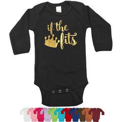 Princess Quotes and Sayings Foil Bodysuit - Long Sleeves - 6-12 months - Gold, Silver or Rose Gold (Personalized)