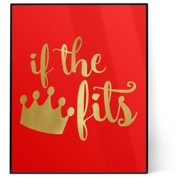 Princess Quotes and Sayings 8x10 Foil Wall Art - Red (Personalized)