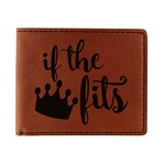 Princess Quotes and Sayings Leatherette Bifold Wallet (Personalized)