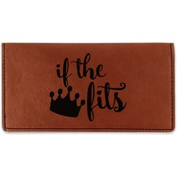 Princess Quotes and Sayings Leatherette Checkbook Holder (Personalized)