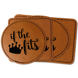 Princess Quotes and Sayings Faux Leather Iron On Patch