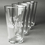 Princess Quotes and Sayings Beer Glasses (Set of 4) (Personalized)