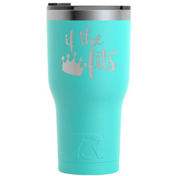 Princess Quotes and Sayings RTIC Tumbler - Teal - 30 oz (Personalized)