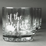 Princess Quotes and Sayings Whiskey Glasses (Set of 4) (Personalized)