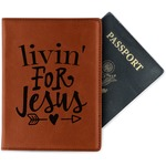 Religious Quotes and Sayings Leatherette Passport Holder (Personalized)