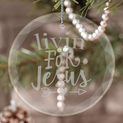Religious Quotes and Sayings Engraved Glass Ornament