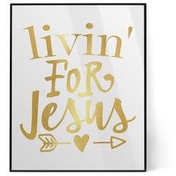 Religious Quotes and Sayings 8x10 Foil Wall Art - White (Personalized)