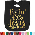 Religious Quotes and Sayings Foil Baby Bibs (Personalized)