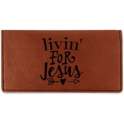 Religious Quotes and Sayings Leatherette Checkbook Holder (Personalized)