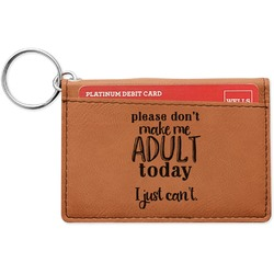 Funny Quotes and Sayings Leatherette Keychain ID Holder (Personalized)