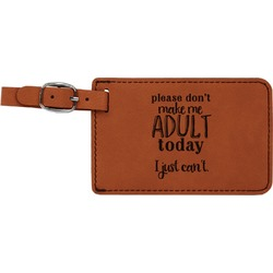 Funny Quotes and Sayings Leatherette Luggage Tag (Personalized)