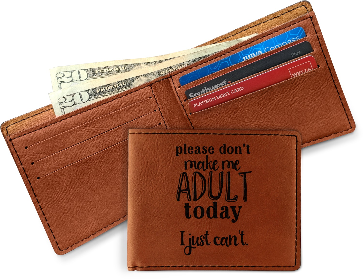 Its Fun To Fool Your Husband Checkbook Cover