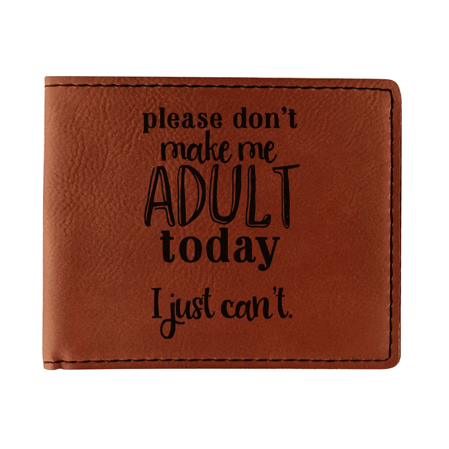 Funny Quotes And Sayings Leatherette Bifold Wallet Personalized