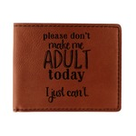 Funny Quotes and Sayings Leatherette Bifold Wallet (Personalized)