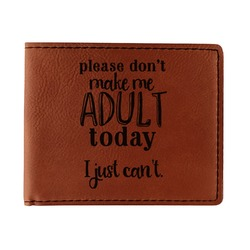 Funny Quotes and Sayings Leatherette Bifold Wallet - Double Sided (Personalized)