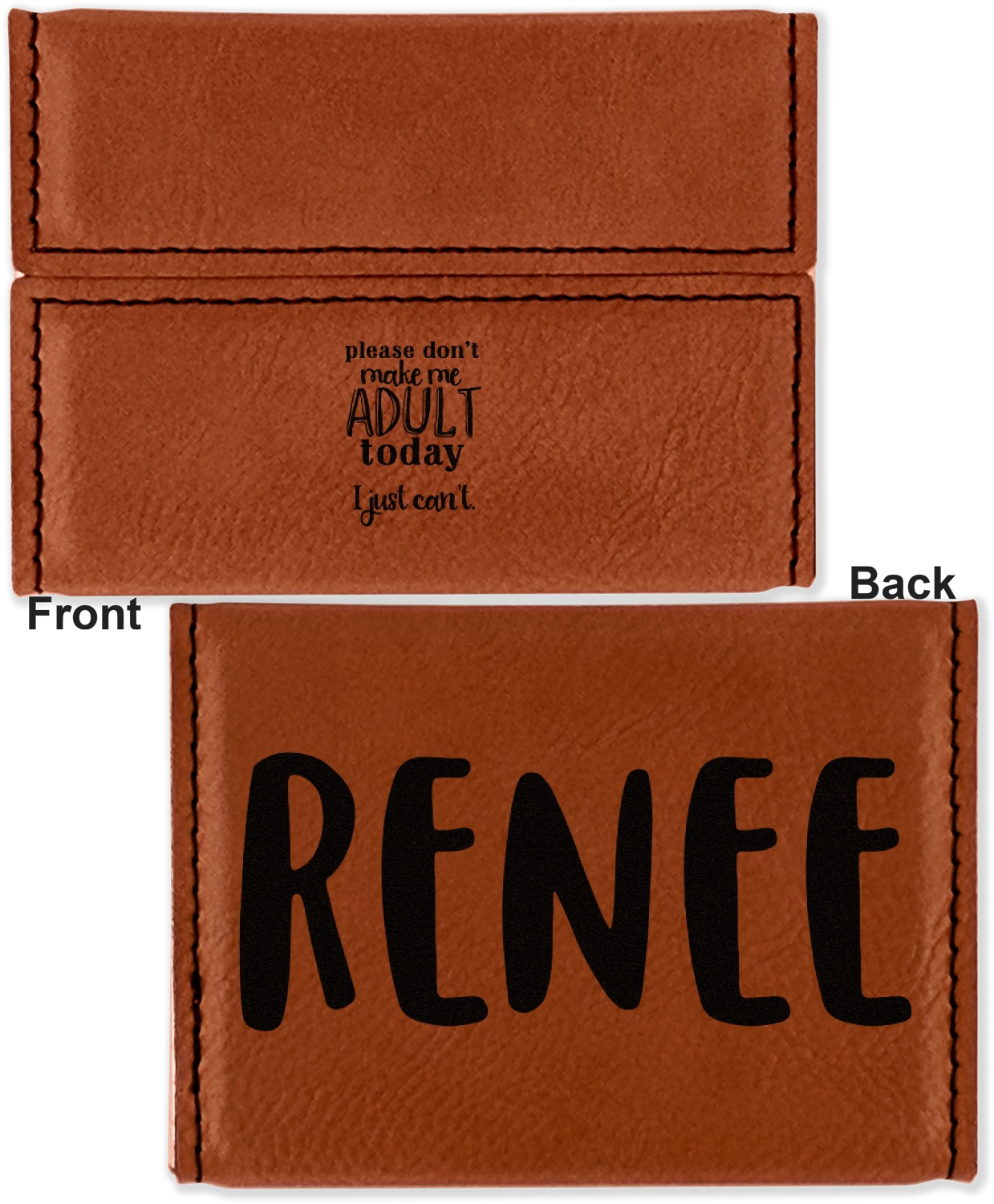 Funny Quotes and Sayings Leatherette Business Card Holder ...