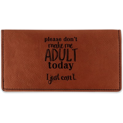 Funny Quotes and Sayings Leatherette Checkbook Holder (Personalized)