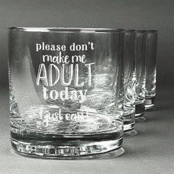 Funny Quotes and Sayings Whiskey Glasses (Set of 4) (Personalized)