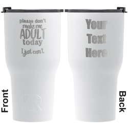 Funny Quotes and Sayings RTIC Tumbler - White - Engraved Front & Back (Personalized)