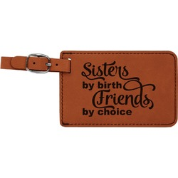 Sister Quotes and Sayings Leatherette Luggage Tag (Personalized)