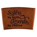 Sister Quotes and Sayings Leatherette Mug Sleeve (Personalized)