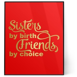 Sister Quotes and Sayings 8x10 Foil Wall Art - Red (Personalized)