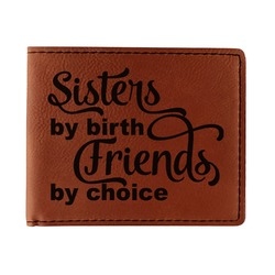 Sister Quotes and Sayings Leatherette Bifold Wallet (Personalized)