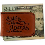 Sister Quotes and Sayings Leatherette Magnetic Money Clip (Personalized)