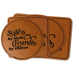 Sister Quotes and Sayings Faux Leather Iron On Patch