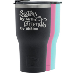 Sister Quotes and Sayings RTIC Tumbler - Black (Personalized)