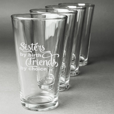 Sister Quotes and Sayings Beer Glasses (Set of 4) (Personalized)