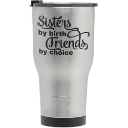 Sister Quotes and Sayings RTIC Tumbler - Silver - Engraved Front (Personalized)