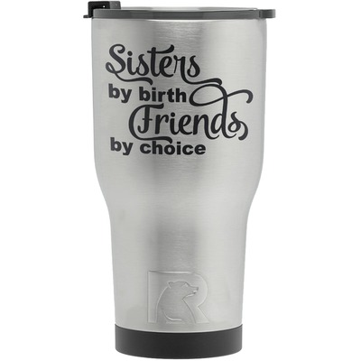 Sister Quotes and Sayings RTIC Tumbler - Silver (Personalized)
