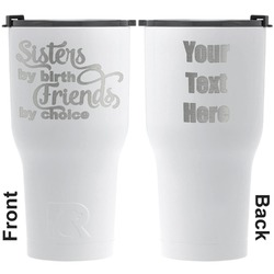 Sister Quotes and Sayings RTIC Tumbler - White - Engraved Front & Back (Personalized)